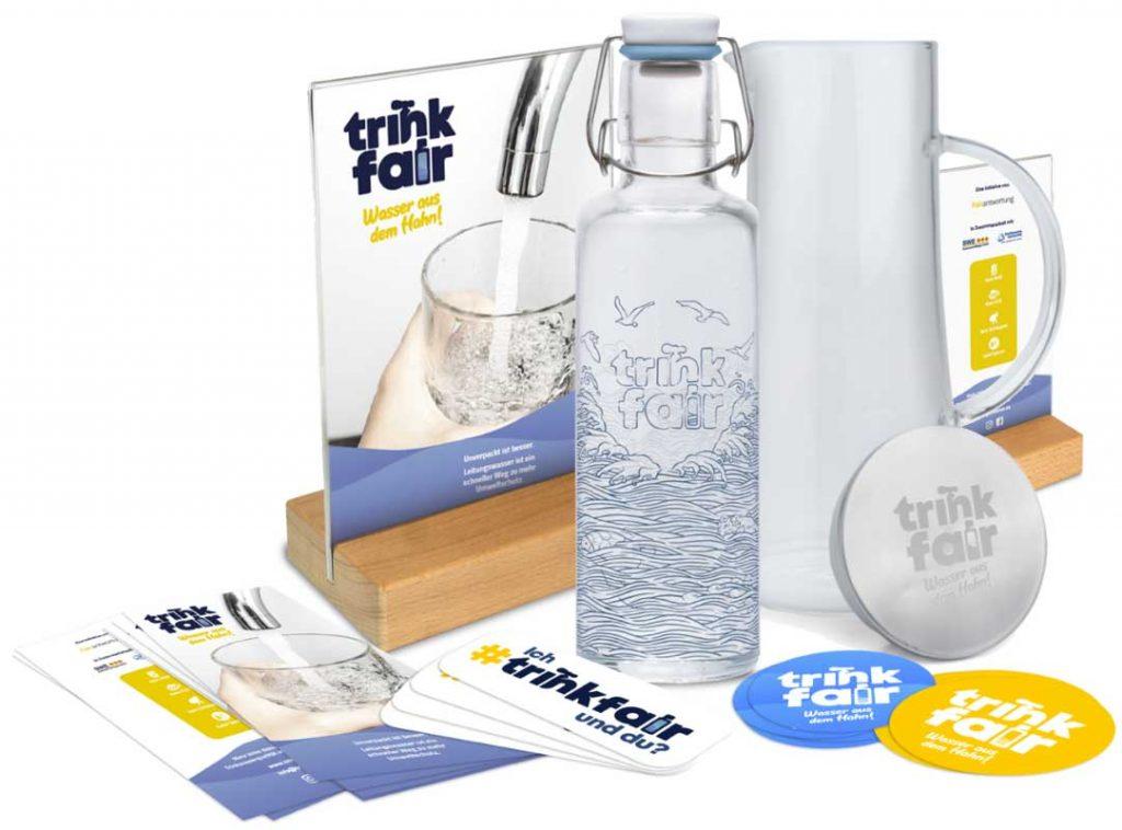Starterset trinkfair – Wasser aus dem Hahn